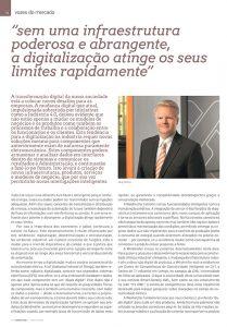 """Artigo sobre """"sem uma infraestrutura poderosa e abrangente, a digitalização atinge os seus limites rapidamente"""""""