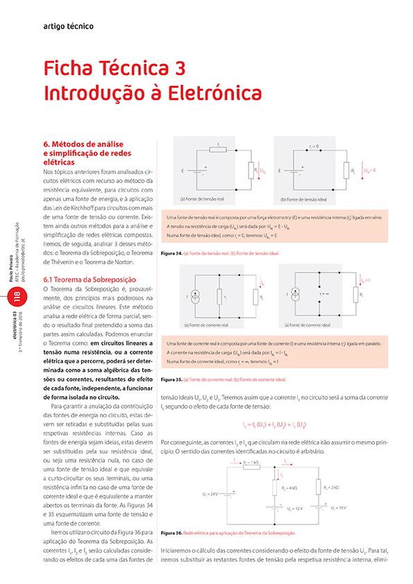 Artigo da Ficha Técnica 3: introdução à Eletrónica (redes elétricas)
