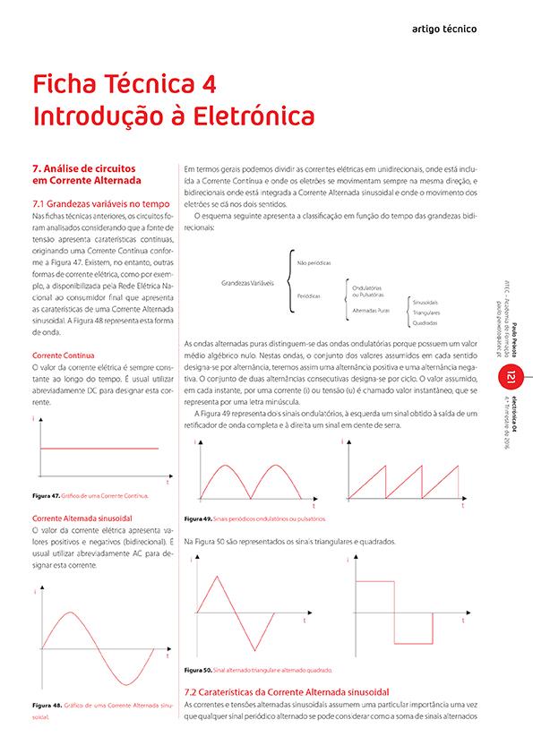 Artigo de Ficha Técnica 4: introdução à eletrónica (Corrente Alternada)