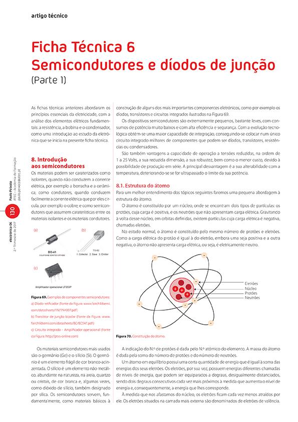 Artigo sobre Ficha Técnica 6: semicondutores e díodos de junção (Parte 1)