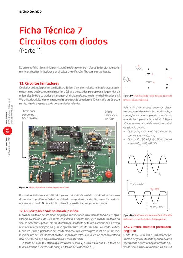 Artigo sobre Ficha Técnica 7 Circuitos com díodos (Parte 1)