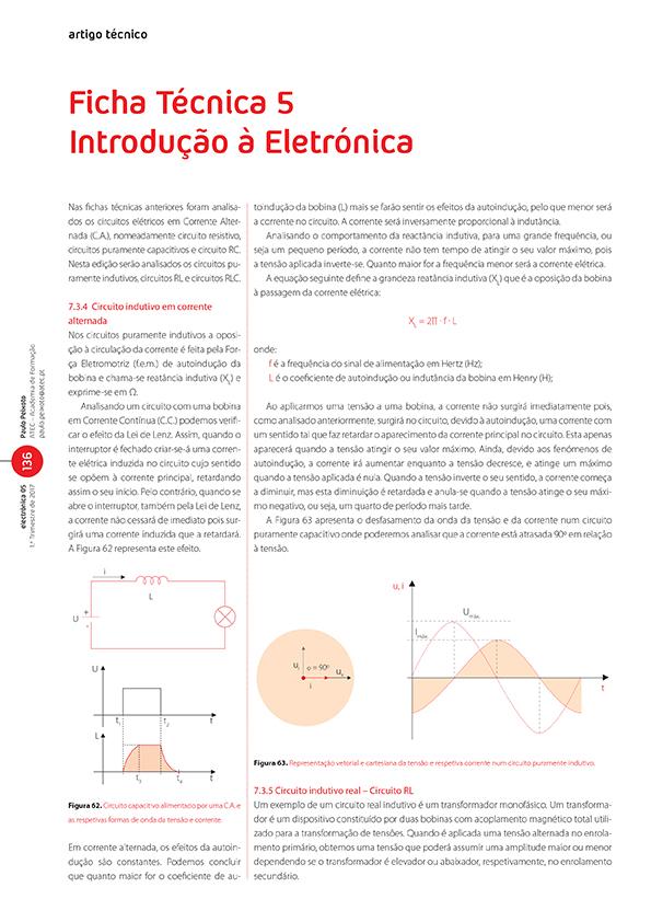 Artigo da Ficha Técnica 5: introdução à eletrónica (Circuitos indutivos)