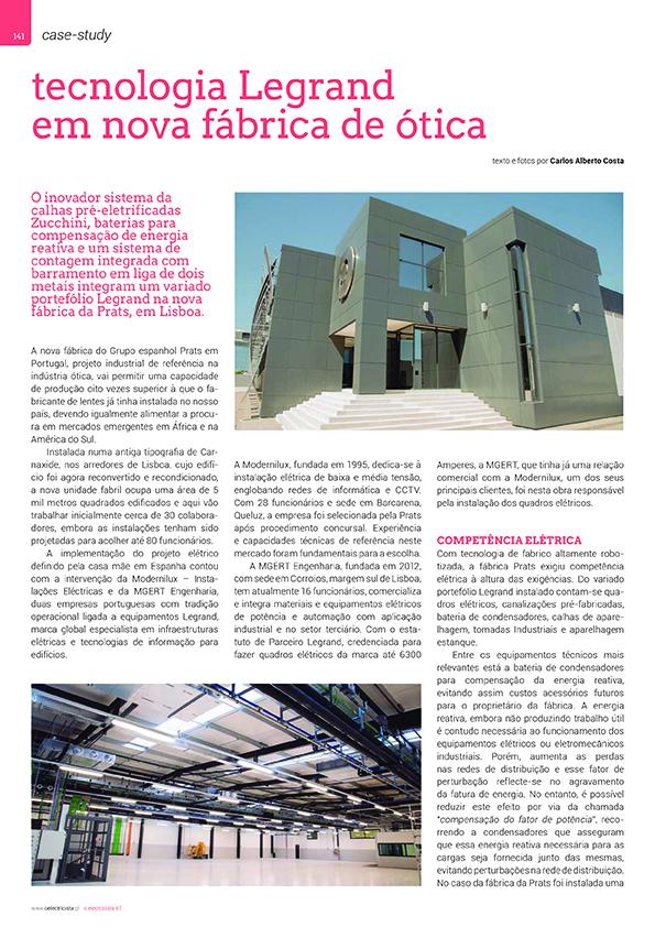 Artigo para Tecnologia Legrand em nova fábrica de ótica