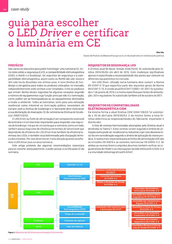 Artigo sobre Guia para escolher o LED Driver e certificar a luminária em CE