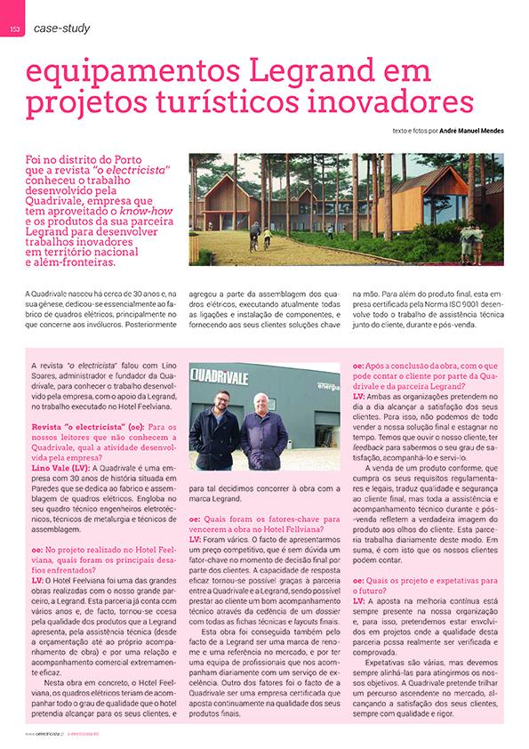 Artigo sobre Equipamentos Legrand em projetos turísticos inovadores