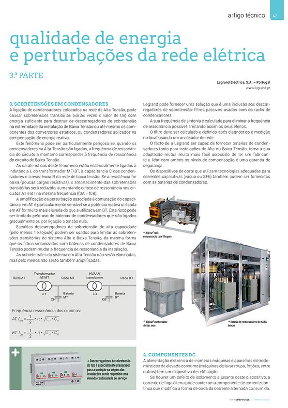 Artigo sobre Qualidade de energia e perturbações da rede elétrica - 3.ª Parte