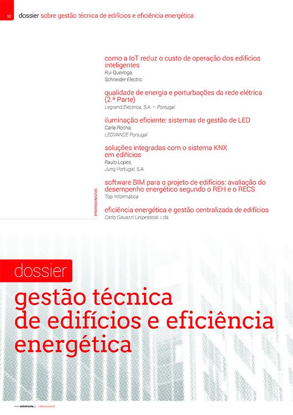 Dossier sobre Gestão técnica de edifícios e eficiência energética