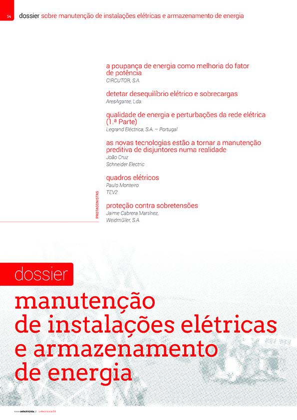 Dossier sobre Manutenção de instalações elétricas e armazenamento de energia