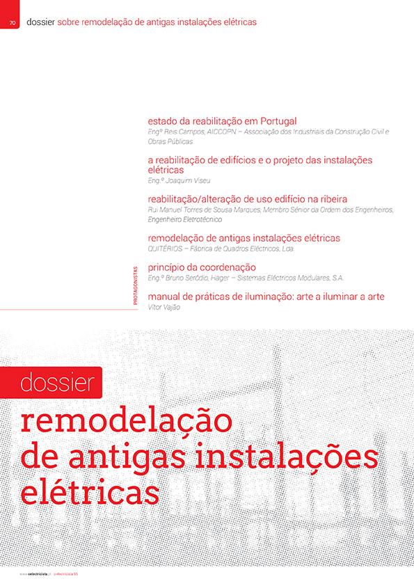 Dossier sobre Remodelação de antigas instalações elétricas