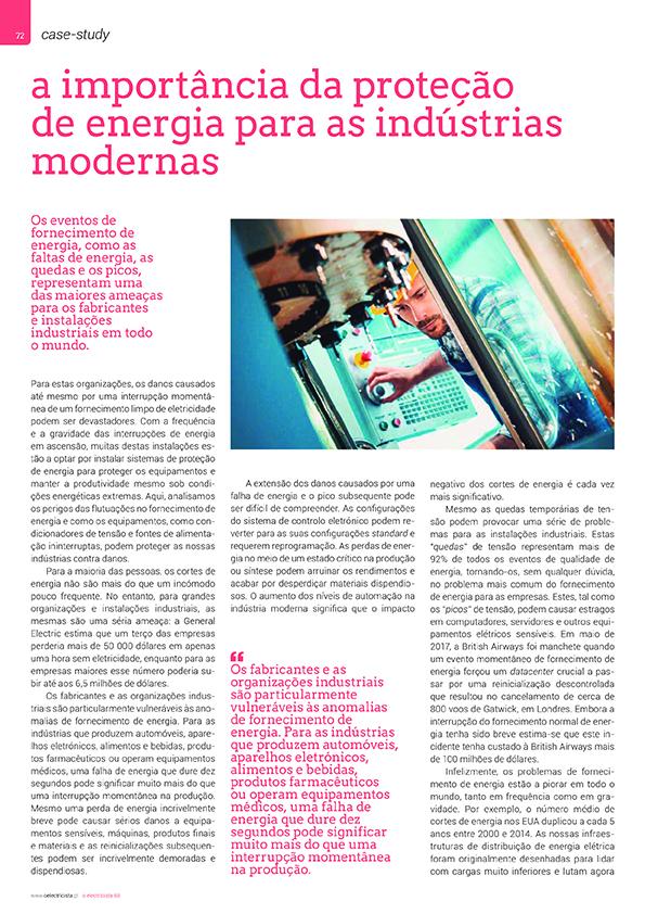 Artigo sobre a importância da proteção de energia para as indústrias modernas