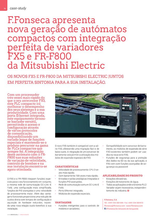 Artigo sobre F.Fonseca apresenta nova geração de autómatos compactos com integração