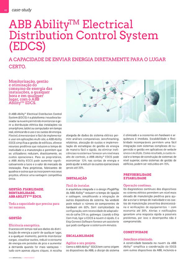Artigo sobre ABB Ability Electrical Distribution Control System (EDCS)