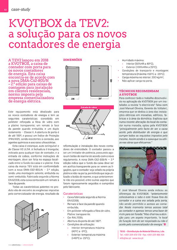 Artigo sobre KVOTBOX da TEV2: a solução para os novos contadores de energia