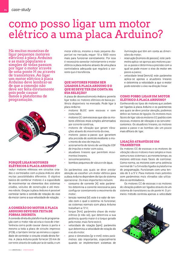 Artigo sobre Como posso ligar um motor elétrico a uma placa Arduino?