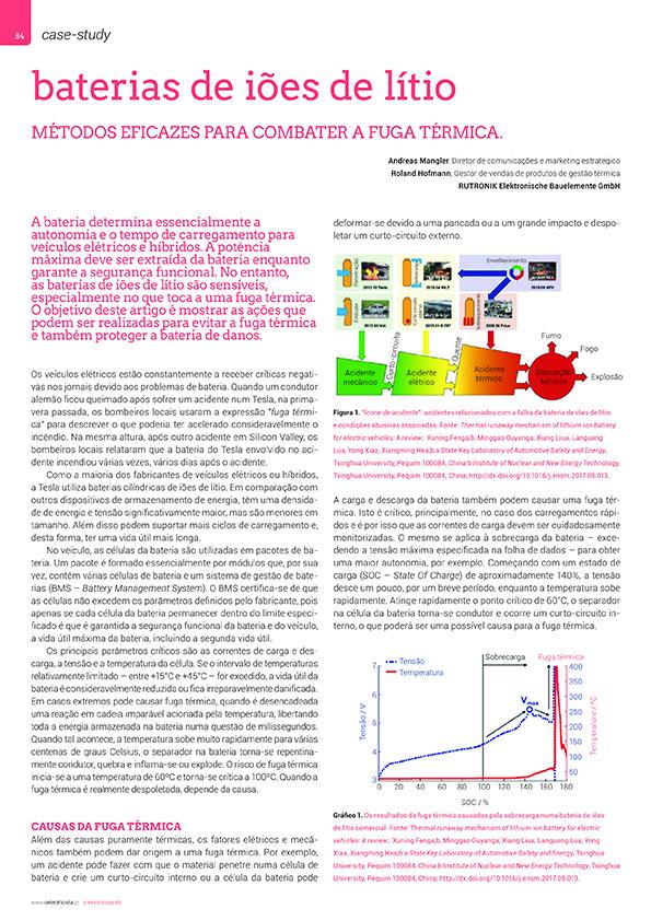 Artigo sobre Baterias de iões de lítio