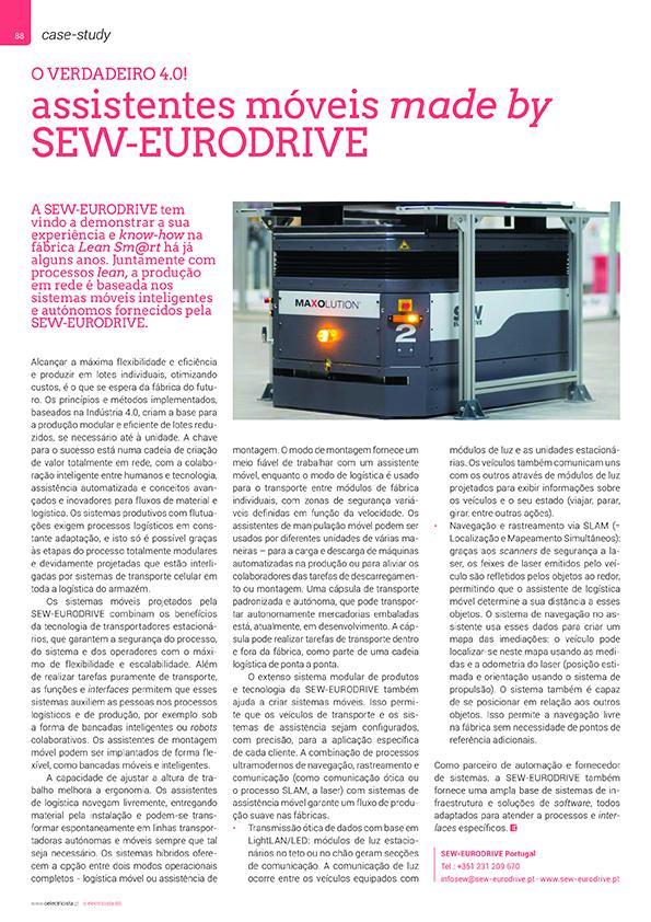 Artigo sobre Assistentes móveis made by SEW-EURODRIVE