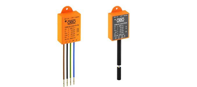 OBO Bettermann: proteção contra sobretensões compacta para equipamentos eletrónicos e luminárias LED