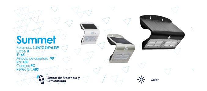 Nova família de luminárias solares da Prilux: Summet