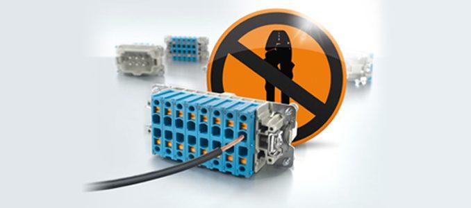 Nova tecnologia de conexão Weidmüller revoluciona a instalação de tomadas industriais