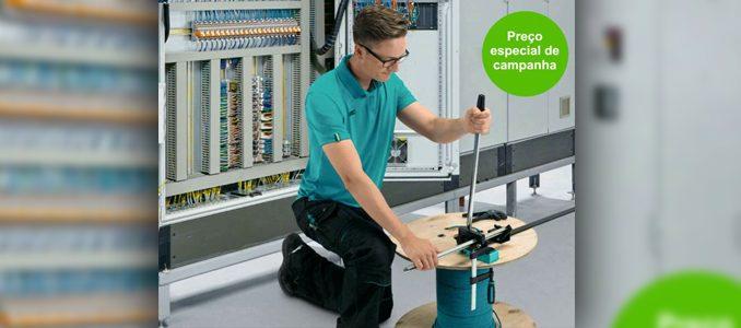 Campanha Phoenix Contact: nova máquina de corte de calha DIN