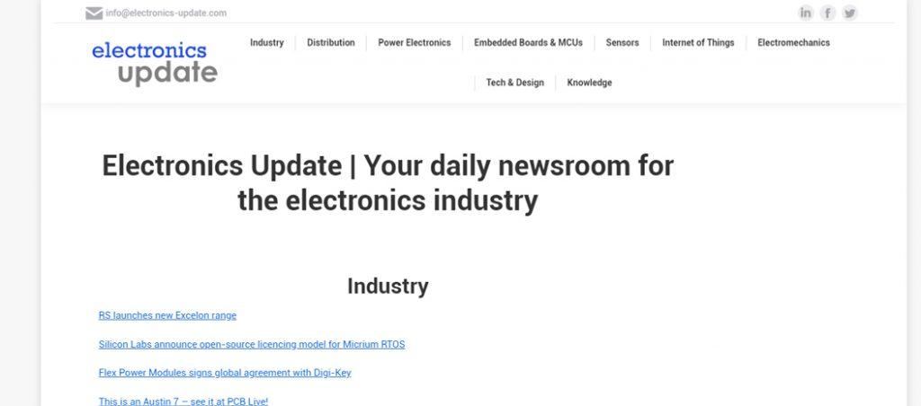 Electronics Update lança novo website