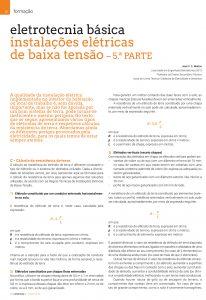 Artigo sobre eletrotecnia básica: instalações elétricas de baixa tensão - resistência de terra
