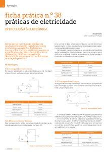 Artigo sobre ficha prática n.º38: práticas de eletricidade - Montagens
