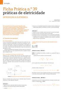 Artigo sobre Ficha prática n.º 39: práticas de eletricidade - Comutação