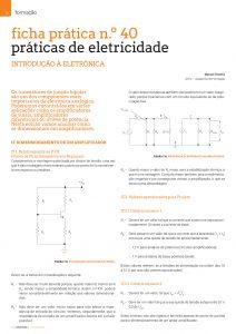 Artigo sobre ficha prática n.º 40: práticas de eletricidade - Amplificadores