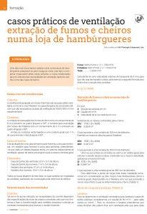 Artigo sobre Extração de fumos e cheiros numa loja de hambúrgueres