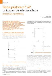 Artigo ficha prática n.º 42: práticas de eletricidade - Amplificadores por divisor de tensão