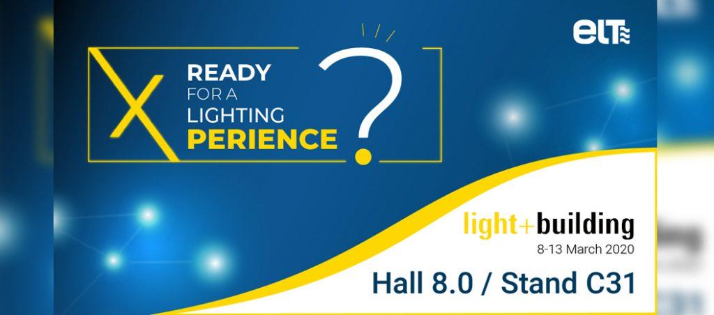 ELT estará presente no Light+Building 2020