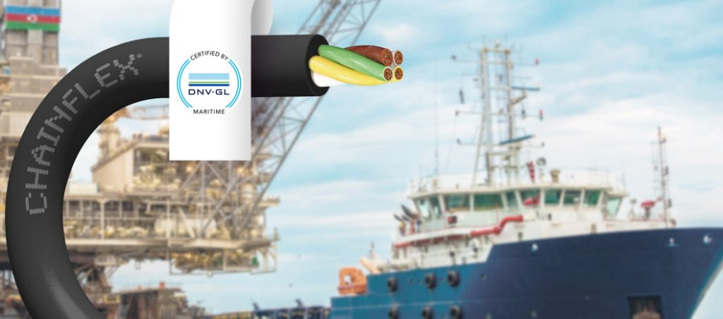 igus®: cabos elétricos com certificação DNV GL para calhas articuladas