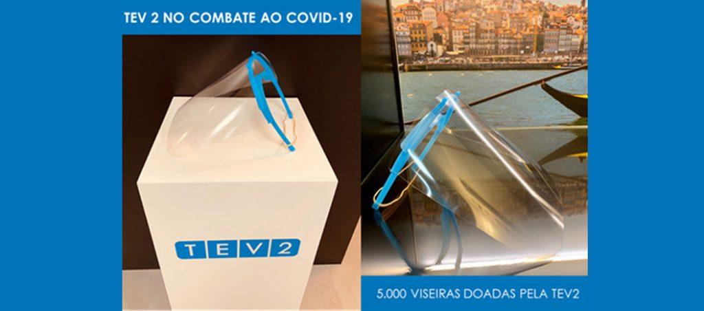 Covid-19: TEV2 faz doação de 5000 viseiras