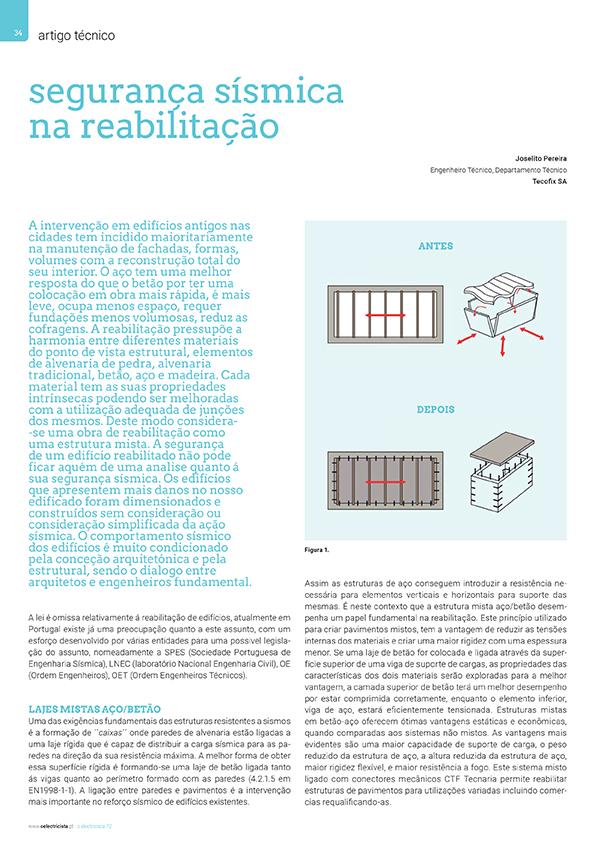 Artigo sobre Segurança sísmica na reabilitação
