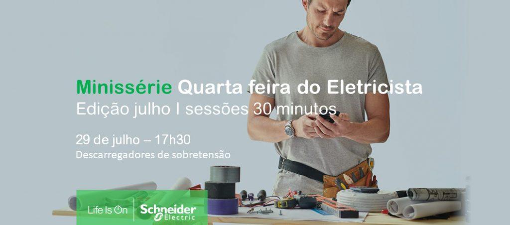 """Sessão prática Schneider Electric: """"Descarregadores de sobretensão"""""""