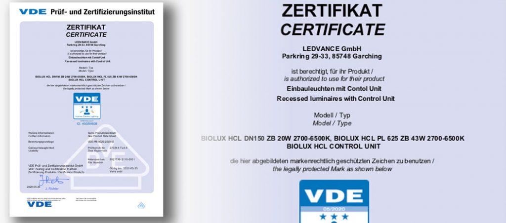 certificado VDE HCL