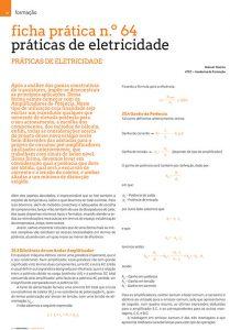 Artigo ficha prática n.º 64: práticas de eletricidade - Amplificadores de Potência (eficiência)