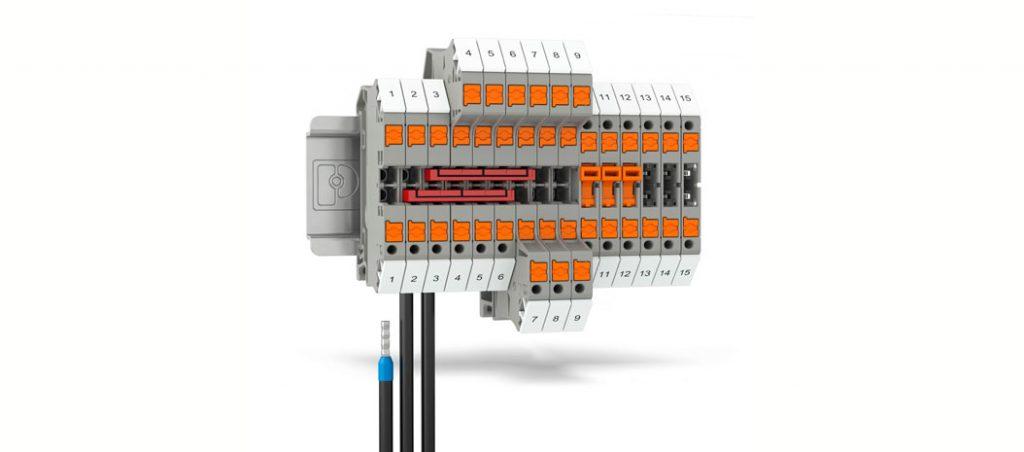 PTV: combinação de ligação Push-in e o ângulo de entrada do borne