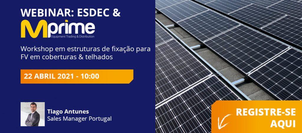 Formação sobre estruturas de fixação para fotovoltaico em telhados