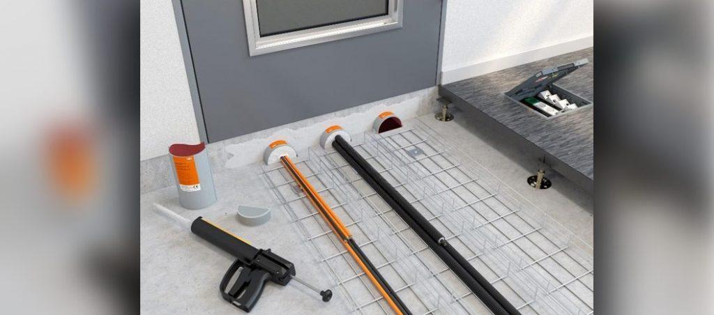 Selagem segura para instalações no chão na OBO Bettermann