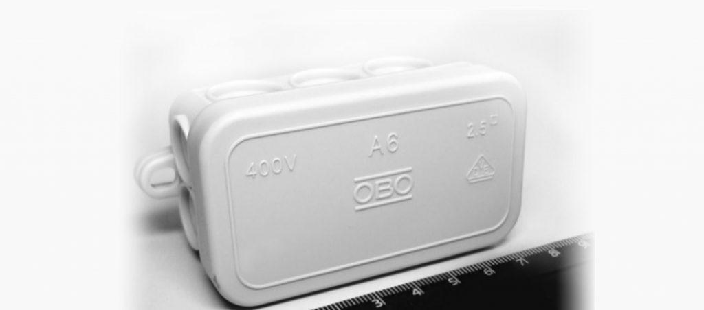 Caixa de derivação A6: a mais pequena da OBO