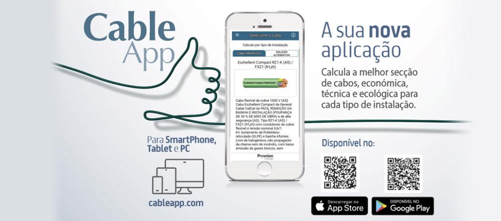 nova aplicação CableApp da Prysmian Group