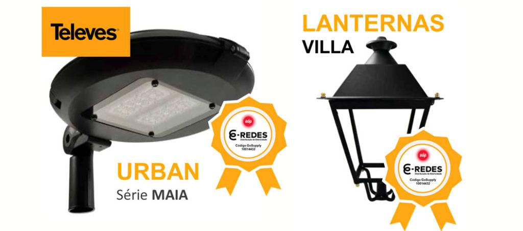 Luminárias Televés com qualificação E-Redes