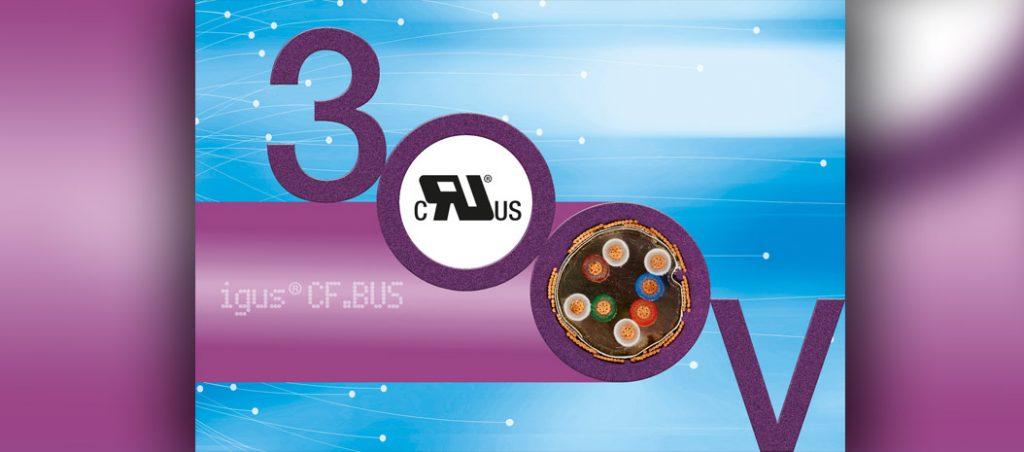 Cabos bus chainflex com aprovação UL de 300 V para maior redução de custos