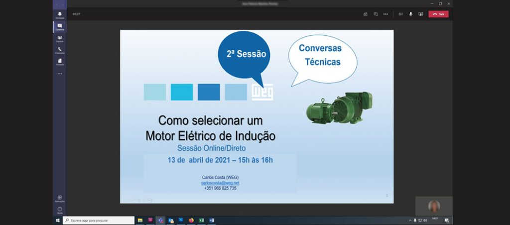 WEG dinamiza conjunto de sessões online para clientes e estabelecimentos de ensino