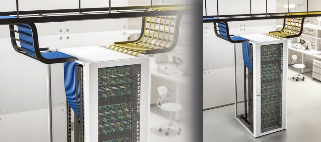 Novo rack TX CableNet da Rittal: gestão de cabos de qualidade profissional